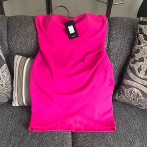 Hot pink fashion nova mini dress!